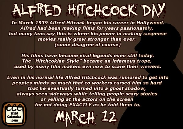 about Alfred Hitchcock Day