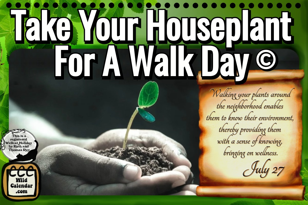 Take Your Houseplant For A Walk Day ©