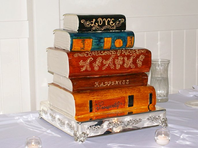 Book Wedding Cake by Collin Parker