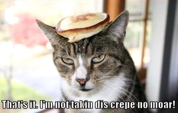 kitty takes no more crepes